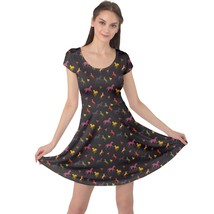 Horse Silhouettes Printed Women's Elastic Swing Cap Sleeve Dress (XS-5XL... - $28.99+