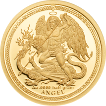 Isle Of Man, 1/64 Angel Piedfort Gold Proof Coin 2018 - $131.18