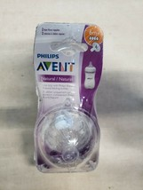 NEW Philips Avent Natural Baby Bottle Fast Flow Nipple 2pcs 6 Months + 4 Flow - $8.54