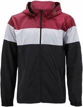 Men's Red Label Hooded Nylon Zip Up Lightweight Athletic Windbreaker Rain Jacket image 1