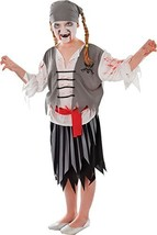 Zombie Pirate Girl (L) costume Kids Fancy Dress - $16.34