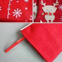 Large Christmas Stockings Gifts Cloth Elk Candies Bags Noel Presents Dec... - $8.90
