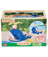 Calico Critters Splash & Play Whale Slide Baby Playground Set Sandbox Ro... - $24.02