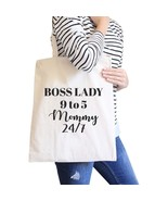 Boss Lady Mommy Natural Canvas Bag Humorous Gifts For Bossy Moms - $15.99