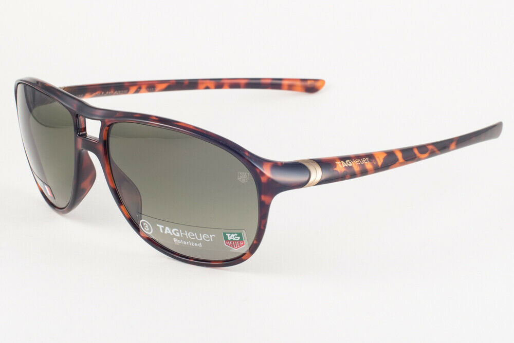 Primary image for Tag Heuer 27 Degree 6043 Shiny Tortoise / Green Polarized Sunglasses TH6043 310