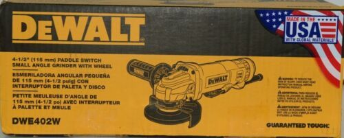 DeWalt DWE402W Paddle Switch Small Angle Grinder with Wheel Corded USA Made