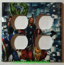Captain America Iron Man Hulk marvel avengers Switch Wall Cover Plate Home decor image 5