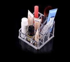 Vieworld Acrylic Lipstick/Brushc Organizer, 9 Compartments, Clear - $10.73
