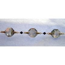 Colored Crystal Gold Bailed Octagon Bracelet image 1