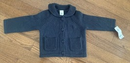 Oshkosh Baby Cardigan Sweater Size 9 Months NAVY BLUE New With Tags - $12.19