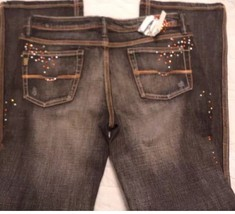 Woman's Pepe Jeans Size 10 Waist Low Rise Black Distressed Boot Cut New ... - $12.16