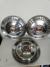 "Set of 3 1960s Ford 3 Lions Crest Shield Center 15"" Wheel Hubcaps - $44.10"