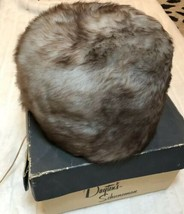 Dayton's Schuneman Vintage Fur Hat With Box Gray Circle - $64.35