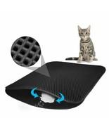 Pet Cat Litter Mat EVA Double Layer Cat Litter Trapping Pet Litter Water... - $8.84+