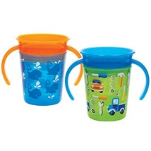 Munchkin Miracle 360 Trainer Cup, Blue/Green, 2 Count - $19.09