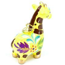 Handcrafted Painted Ceramic Yellow Giraffe Confetti Ornament Made in Peru image 5