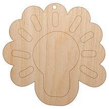 Sniggle Sloth Light Bulb Idea Doodle Unfinished Craft Wood Holiday Christmas Tre - $3.99