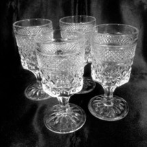 "Wexford Wine Juice Goblets Set of 4 Clear 5.5 oz 5-3/8"" Anchor Hocking Glass - $15.99"