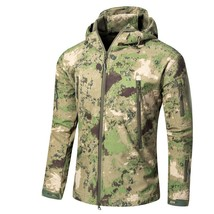 CAMOUFLAGE JACKET MEN 2016 Army Military Style Tactical Soft Shell Warm ... - $73.59