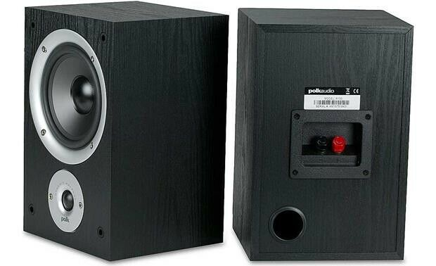 NEW Polk Audio R150 BLACK 2 Way Bookshelf Speakers PAIR image 2