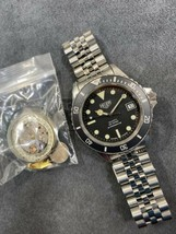 Vintage TAG HEUER 1000 980.013 Black Dial Submariner 844 Monnin Style Watch - $924.99