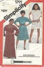 Simplicity 5795 Misses Pullover Dress in 3 lengths  10, 12, 14 - $5.50