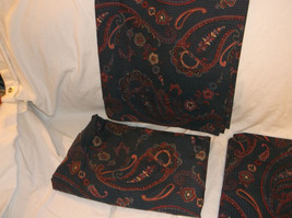 5 PIECE SET CROSCILL TOWN & COUNTRY 3 PANELS 2 TIEBACKS BLUE HOUNDSTOOTH... - $29.09
