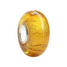 Beads Charms Jewelry Sale Gorgeous Gold Murano Glass Bead Charm Fits Pan... - $22.99