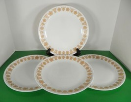 Corelle BUTTERFLY GOLD Dinner Plate (s) LOT OF 4 Corning - $21.73