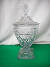 """Cape Cod Crystal Imperial Glass 1930 -1950 10 1/2"""" Tall Covered Dish Vintage - $50.48"""