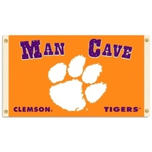 "Clemson Tigers ""Man Cave"" 3 ft x 5 ft Flag With 4 Grommets - $35.95"
