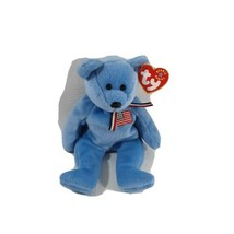 TY Beanie Baby - AMERICA the Bear (Blue Version) (8.5 inch) - MWMTs Stuffed Toy - $9.49