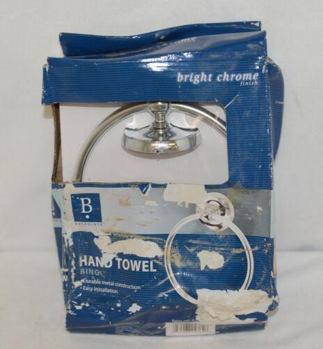 Baypointe 623985 Metal Hand Towel Ring Bright Chrome Finish