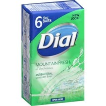 Dial Mountain Fresh Antibacterial Deodorant Soap, 4 oz, 6 count - $12.20