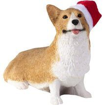 Sandicast Red Pembroke Welsh Corgi with Stocking Christmas Ornament - $21.99