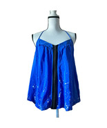 Silence + Noise Front Zip T Strap Silk Top - $23.99