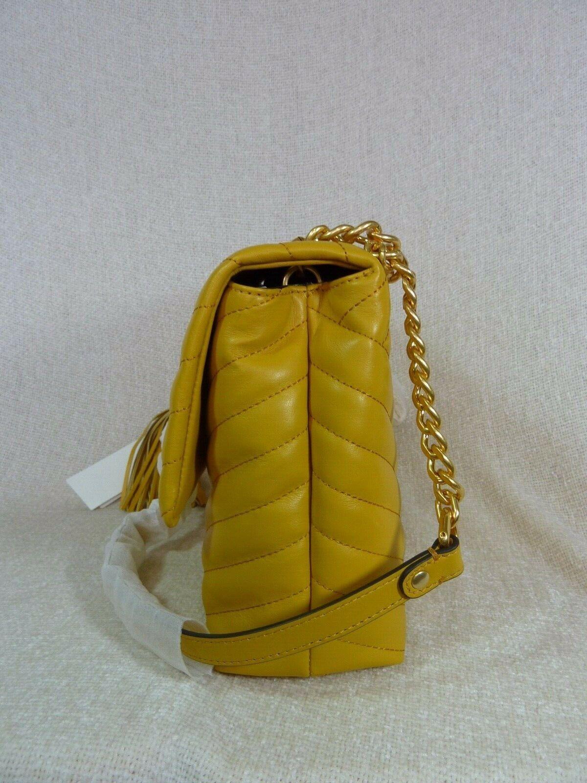 NWT Tory Burch Daylily Kira Chevron Flap Shoulder Bag $528 image 3