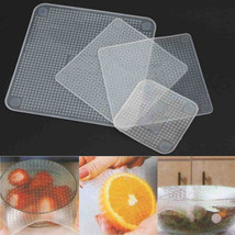 Keythemelife 4pcs Food Fresh Keeping Saran Wrap Kitchen Tools Reusable ... - £9.57 GBP