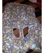 BABY SHOPPING CART AND HIGH CHAIR COVER GRAY UNISEX GERM PROCTECTOR - $18.50