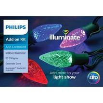 Philips Illuminate Add on Kit 25 C9 Lights LED Multi Color App Controlled - $43.99