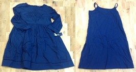 Polo Ralph Lauren Chat Navy Slip With Dress, Size 12 - $39.59