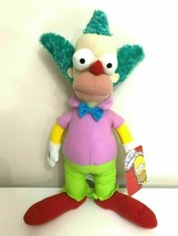 New Large Krusty the Cown Plush Toy . Simpsons.16 inch tall. Licensed. Soft - $17.63