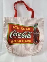 1990 Vintage Coca Cola Canvas Tote Bag RARE - $33.85