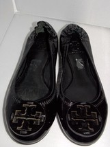 Tory Burch REVA Black Patent Leather Ballet Flats CHOOSE YOUR SIZE Used ... - $149.99