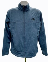 The North Face Windwall Zip Front Softshell Jacket Coat Size Large Blue ... - $41.39