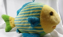 "Dakin Splashy Fish Plush Toy Animal Tropical Yellow Blue 16"" - $12.18"