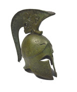 Bronze Helmet high with griffin carvingson crest Greek small reproduction - $69.90