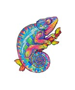 """Unidragon Wooden Jigsaw Puzzles """"Iridescent Chameleon"""" Wooden Puzzles fo... - $59.99+"""