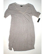 NWT New Designer Natori Night Gown Short Womens S Sleep Shirt Lace Brown... - $123.50