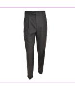 Kirkland Signature 100% Wool Pleated Dress Slacks, Charcoal Plaid, 32x32 - $23.10